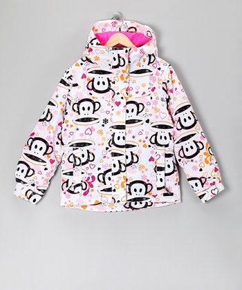 White Julius Heart Jacket - Girls