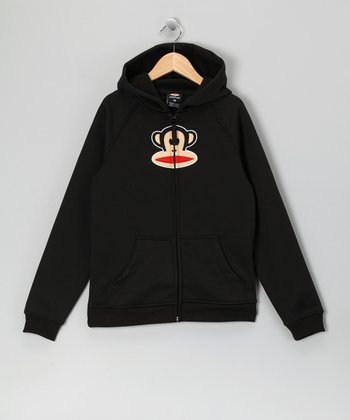 Black Monkey Fleece Zip-Up Hoodie - Girls