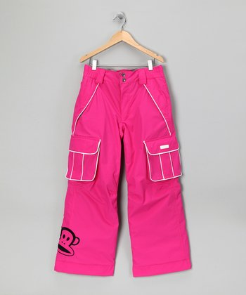 Pink Monkey Snow Pants - Girls