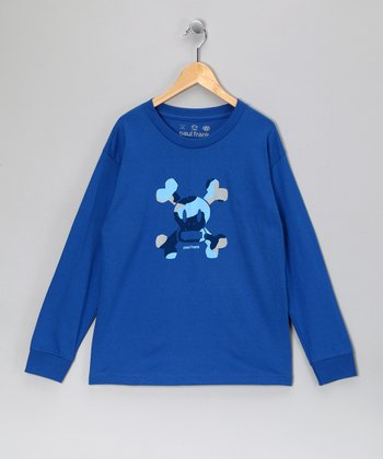 Royal Blue Skull & Crossbones Long-Sleeve Tee - Boys