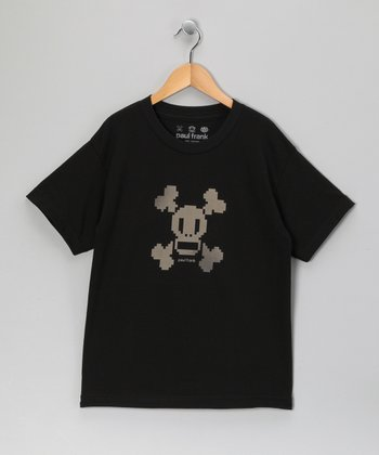 Black Skull & Crossbones Tee - Boys