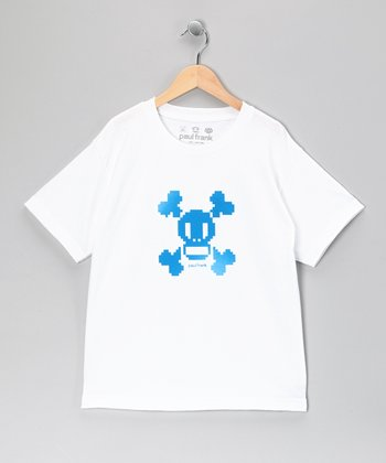 White Skull & Crossbones Tee - Boys