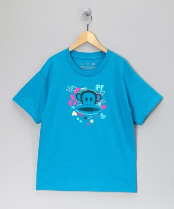 Blue Heart & Monkey Tee