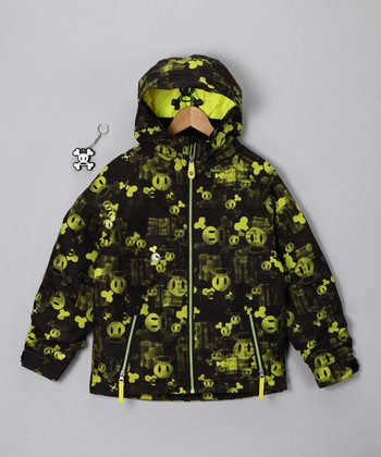 Acid Green Mix Insulated Jacket - Boys