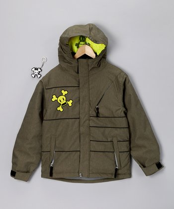 Army Green Division Insulated Jacket - Boys