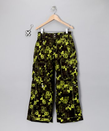 Acid Green Skurvy Fade Insulated Pants - Boys