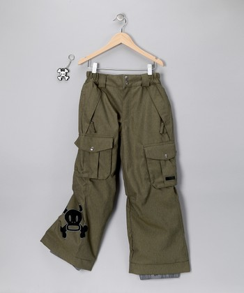 Army Green Skurvy Insulated Pants - Boys