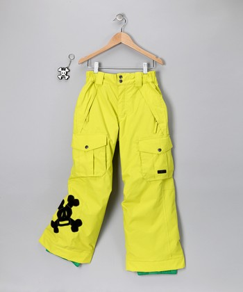 Acid Green Skurvy Insulated Pants - Boys