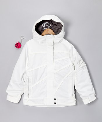 White Lumina Insulated Jacket - Girls