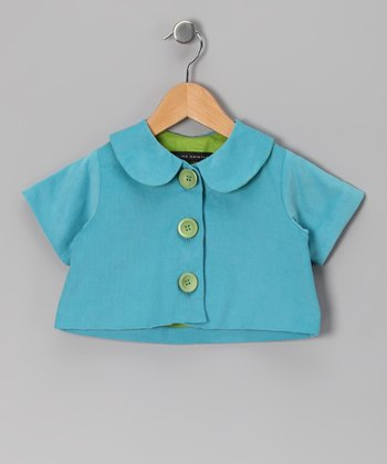 Turquoise Lu Lu Jacket - Infant, Toddler & Girls