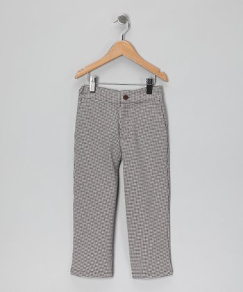Brown Plaid Knit Pants - Toddler & Boys