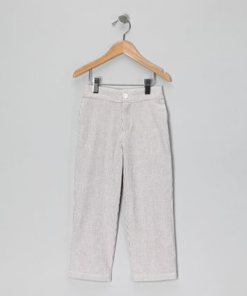 Gray Seersucker Pants - Infant, Toddler & Boys
