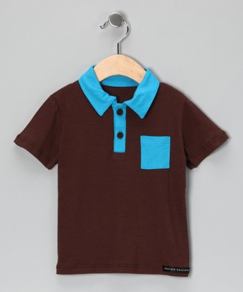 Brown & Teal Polo - Infant, Toddler & Boys