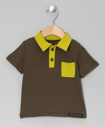 Lime & Forest Green Polo - Infant, Toddler & Boys