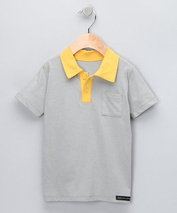 Gray & Yellow Polo - Toddler & Boys