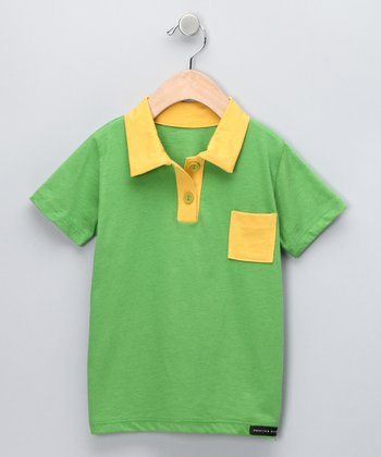 Light Green & Yellow Polo - Toddler & Boys