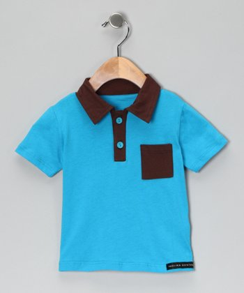 Teal & Brown Polo - Infant, Toddler & Boys