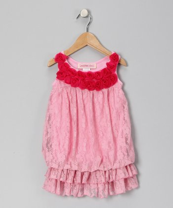 Pink Lace Drop-Waist Tunic - Toddler
