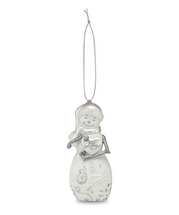 Snowman 'Love' Ornament