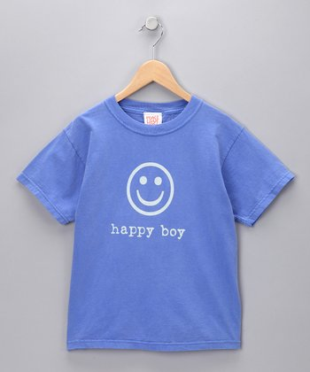 Blue 'Happy Boy' Tee - Toddler & Boys