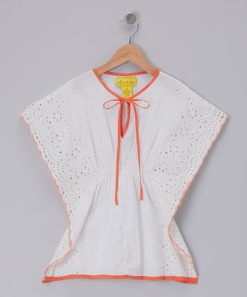 White Apple of My Eyelet Tunic - Girls