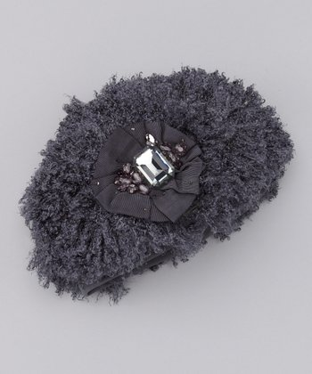 Gray Curly Q Beret