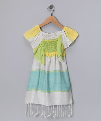 Green Dream Weaver Dress - Girls