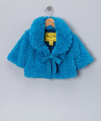 Turquoise Plush Hour Chubbie Jacket - Toddler & Girls