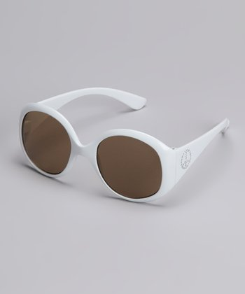 White Jackie O Sunglasses