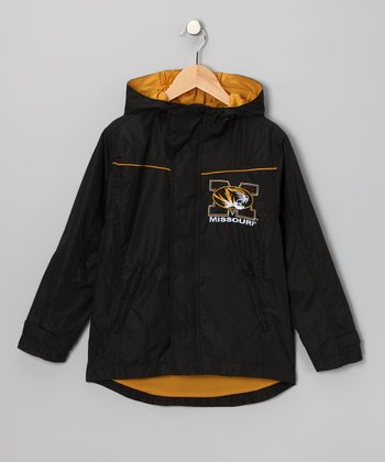 Peak Season Black Missouri Tigers Jacket - Kids