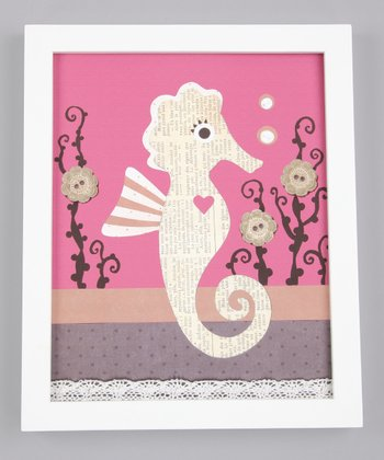 Shelly the Seahorse Print
