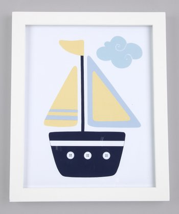 Yellow & Blue Oceanside Ride Print