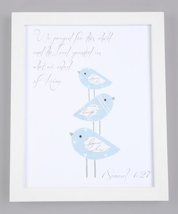 Blue 'We Prayed for This Child' Print