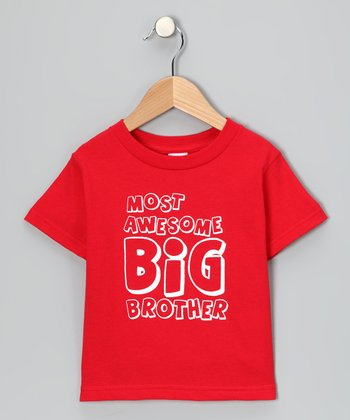 Red 'Most Awesome Big Brother' Tee - Infant, Toddler & Boys