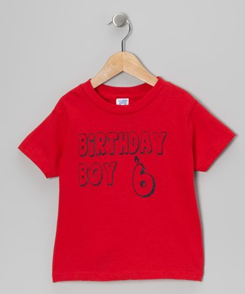Red 'Birthday Boy 6' Tee - Boys