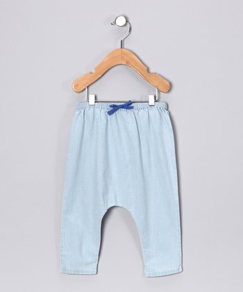 Pearls & Popcorn Light Blue Harem Pants - Infant & Toddler