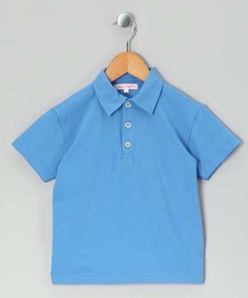 Blue Knit Polo - Infant, Toddler & Kids