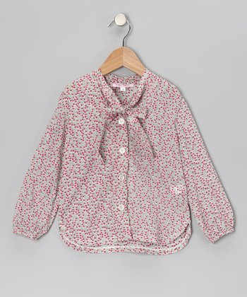 Pink Cottage Floral City Top - Girls