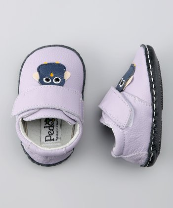 Lavender Wise Owl Soft-Sole Shoe