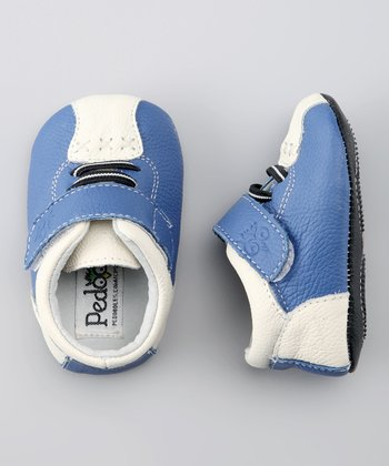 Blue & White Bumper Cars Soft Sole Shoe
