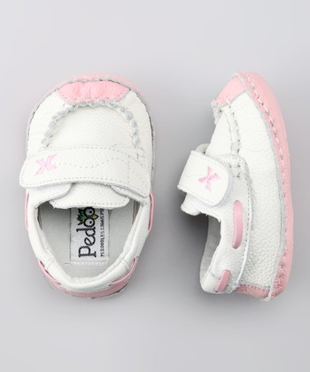 White & Pink Dream Soft Sole Boat Shoe