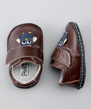 Brown Wise Owl Soft Sole Shoe