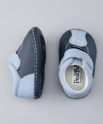 Light Blue & Navy Bowlers Soft-Sole Shoe