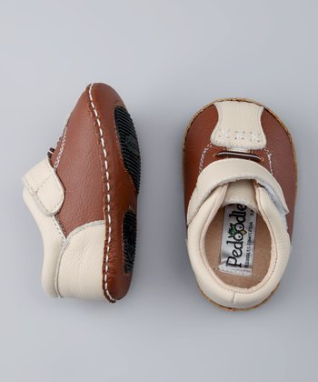 Light Brown & Cream Bowler Shoe
