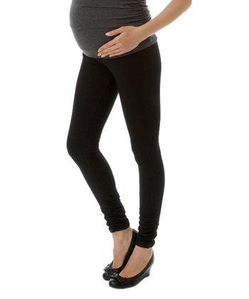 Black Over-Belly Maternity Leggings