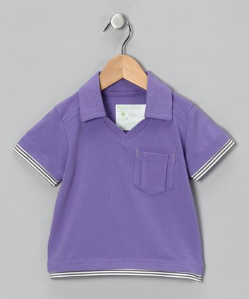 Mauvelous Mauve Block Party Polo - Toddler & Boys