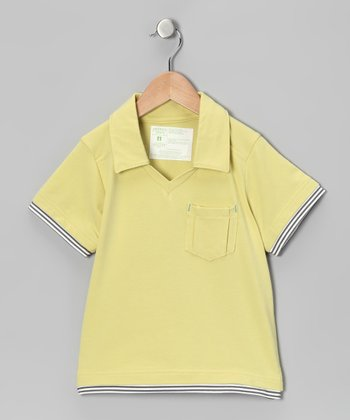 Sunshine Yellow Block Party Polo - Toddler & Boys