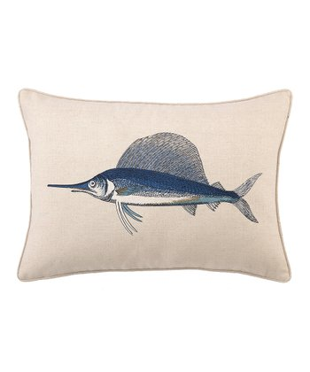 Navy Blue Marlin Pillow