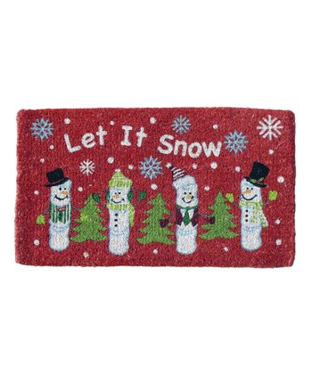 'Let It Snow' Coir Doormat