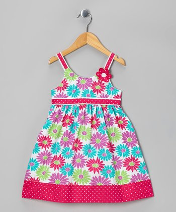 Purple Floral Babydoll Dress - Toddler & Girls